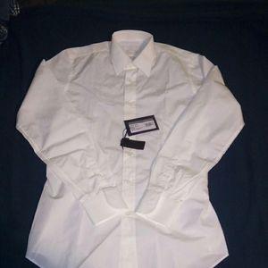 💯 authentic Prada white dress shirt